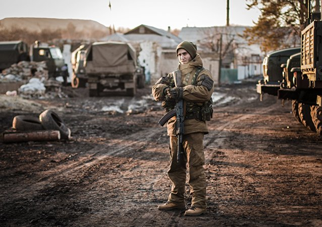 Combatente da RPD nos arredores de Debaltsevo