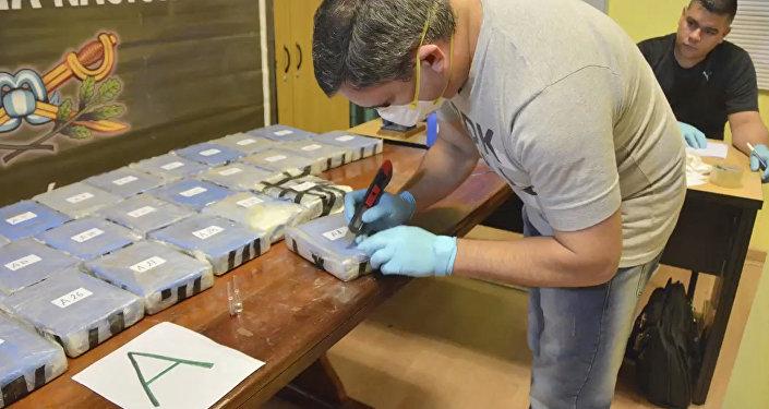 Cocaína apreendida na Embaixada da Rússia em Buenos Aires durante operação conjunta dos serviços de segurança russo e argentino