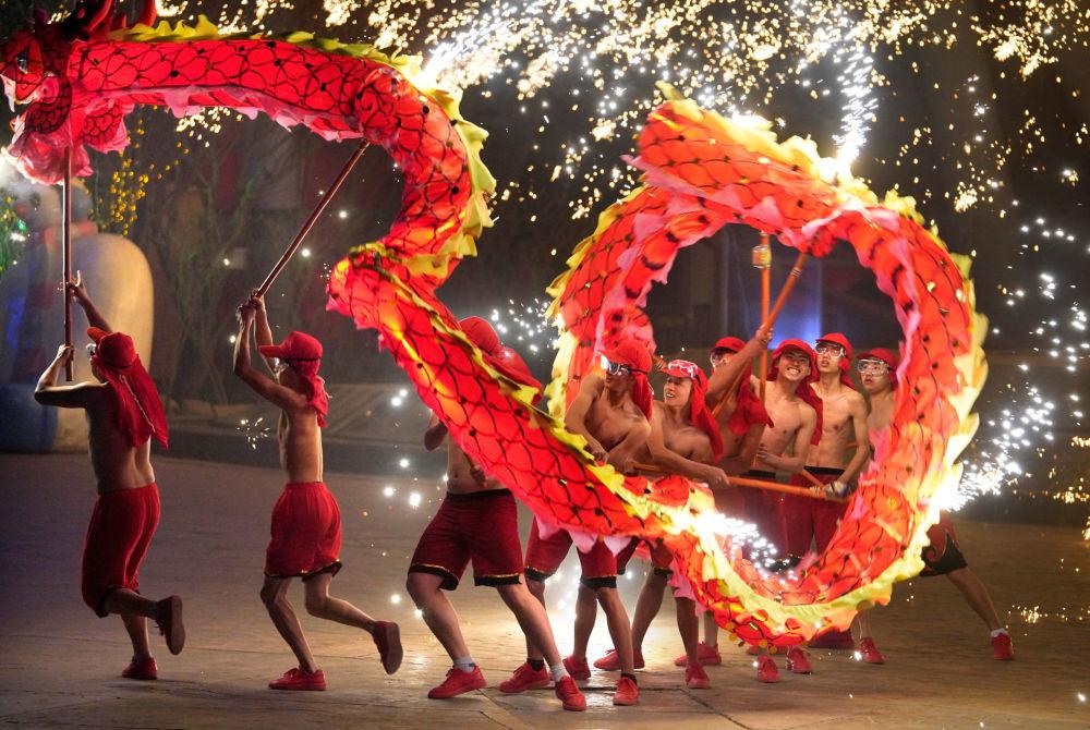 Festejos do Ano Novo Lunar em Pequim, na China