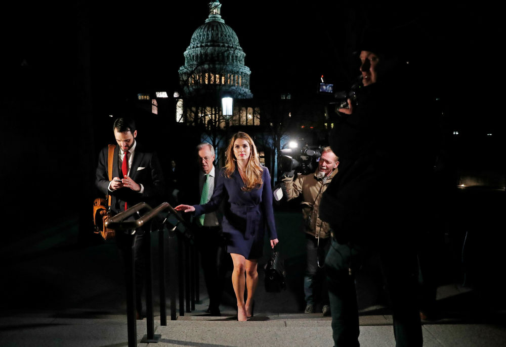 Ex-diretora de comunicação do presidente dos EUA, Hope Hicks, deixa Capitólio