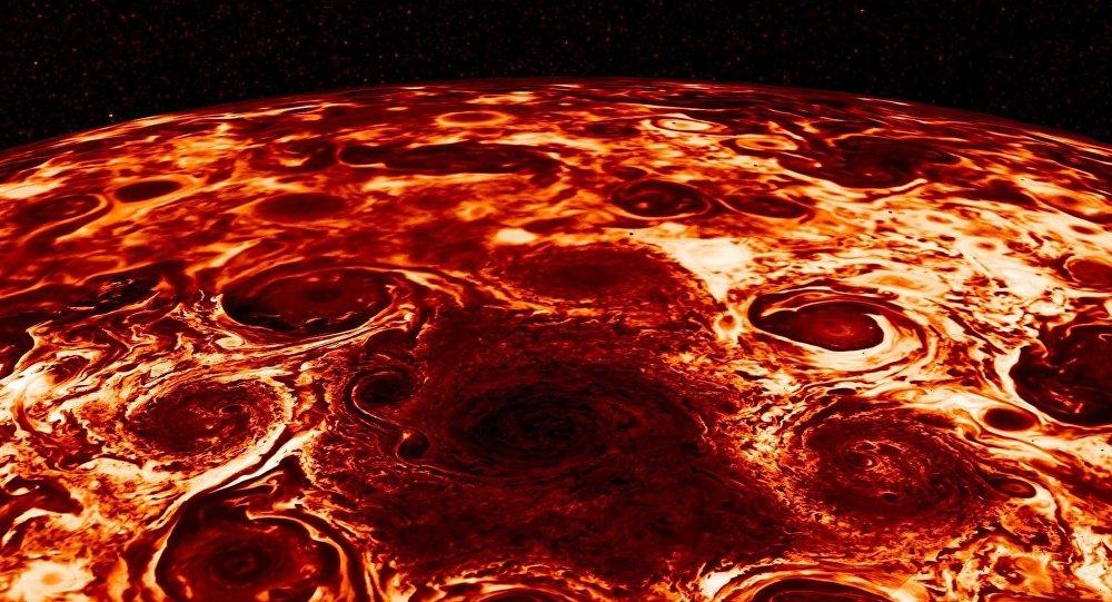 Imagem impressionante de Júpiter tirada pela sonda Juno