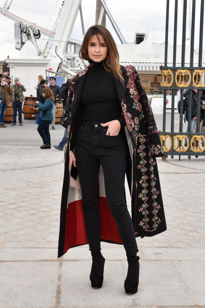 Empresária russa Miroslava Duma no desfile de moda da Valentino em Paris, março de 2016