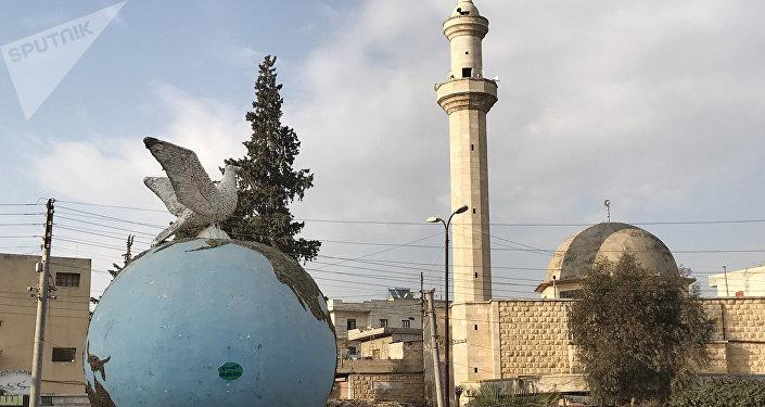Praça central da cidade síria de Afrin (foto de arquivo)
