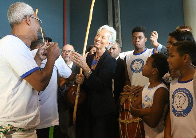 Christine Lagarde, diretora do FMI, no Rio de Janeiro.