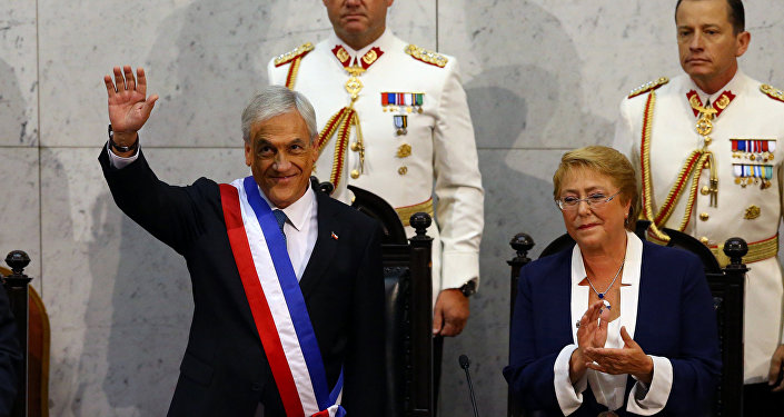 Posse de Sebastián Piñera no Chile.