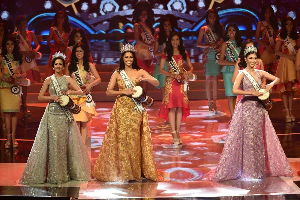 Participantes do concurso Miss Indonésia 2018 em Jacarta