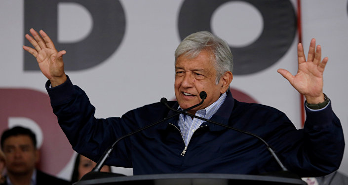 O favorito da corrida eleitoral mexicana e candidato presidencial da esquerda mexicana, Andrés Manuel Lopez Obrador