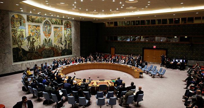 Membros do Conselho de Segurança da ONU na sede da organização em Nova York