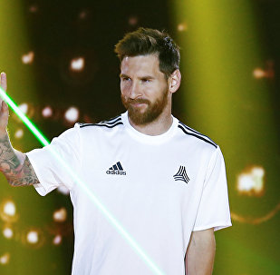Lionel Messi, ponta-direita do clube Barcelona