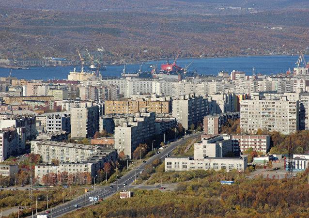 Murmansk, região russa localizada na fronteira com a Noruega
