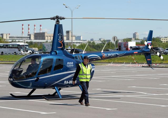 Helicóptero Robinson R66 turbine chega para a HeliRussia 2015
