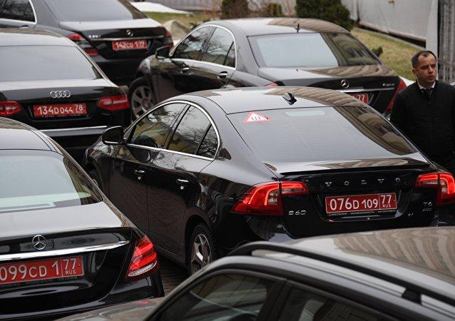 Carros diplomáticos russos