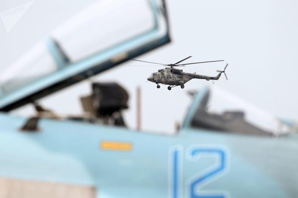 Helicóptero Mi-8AMTSh durante o concurso Aviadarts 2018