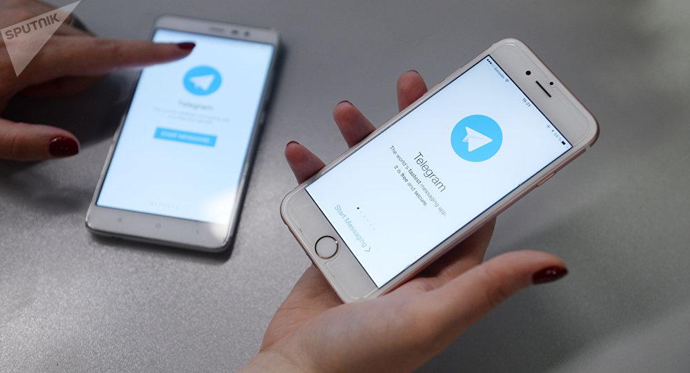 Aplicativo de mensagens Telegram no smartphone