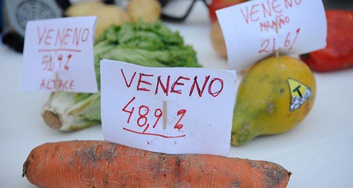 Ato da Campanha Permanente contra os Agrotóxicos e pela Vida no Rio de Janeiro.