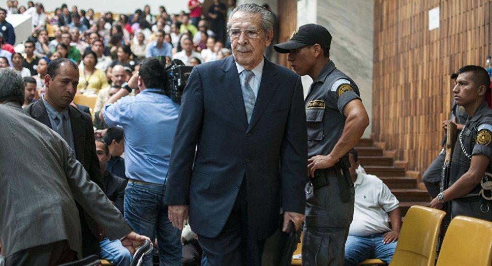 General Efraín Ríos Montt, ditador que governou a Guatemala entre 1982 e 1983 (arquivo)
