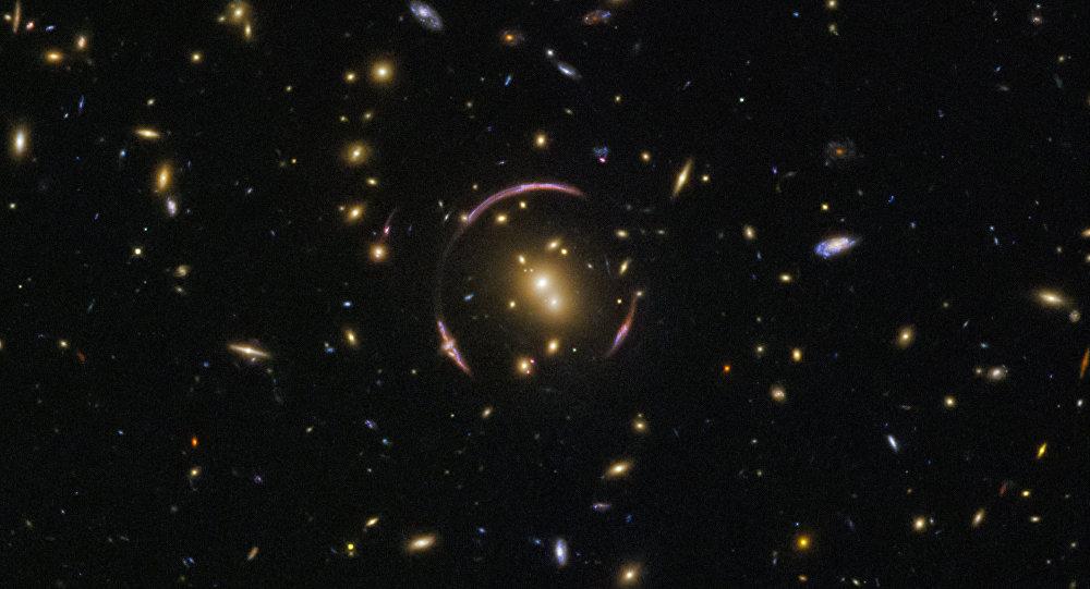 Imagem de galáxias tirada pela sonda Hubble