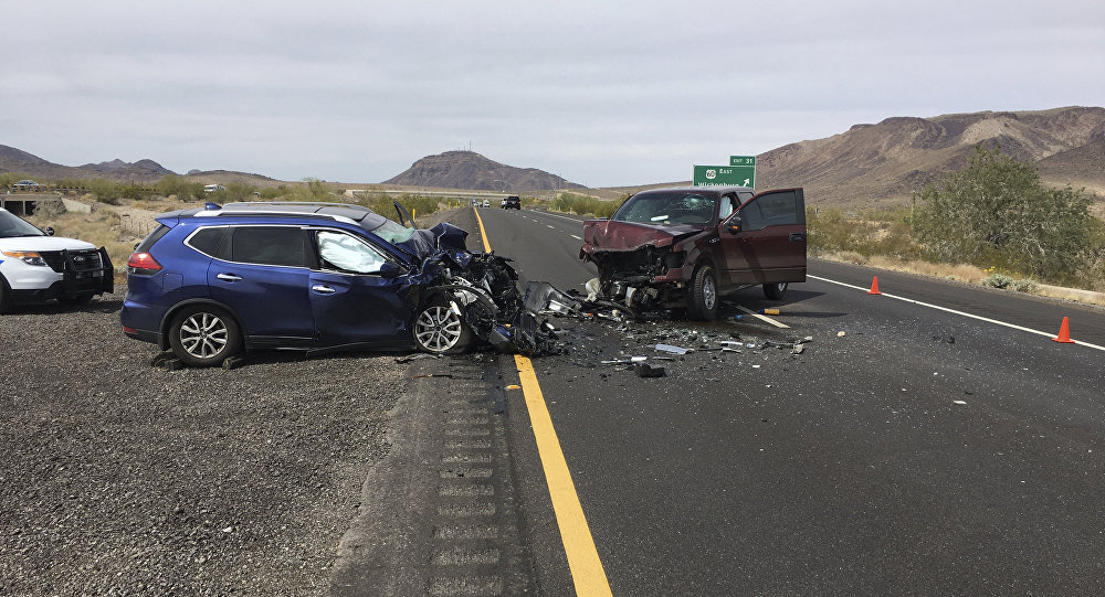 Acidente de carro nos Estados Unidos (imagem referencial)