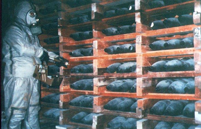 Armazém de armas químicas russas (foto de arquivo)