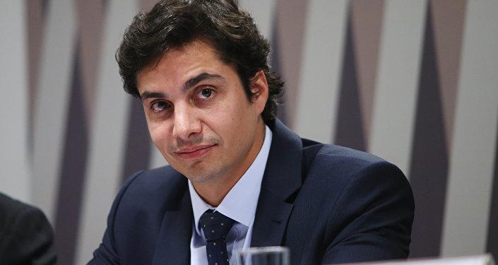 Gustavo Perrella em audiência no Senado sobre o Estatuto do Torcedor, em 2016