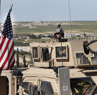 Soldado norte-americano em Manbij, norte da Síria (foto de arquivo)