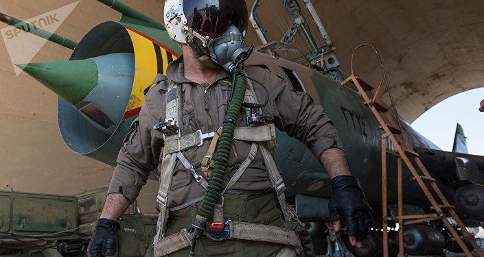 Base aérea síria na província de Homs