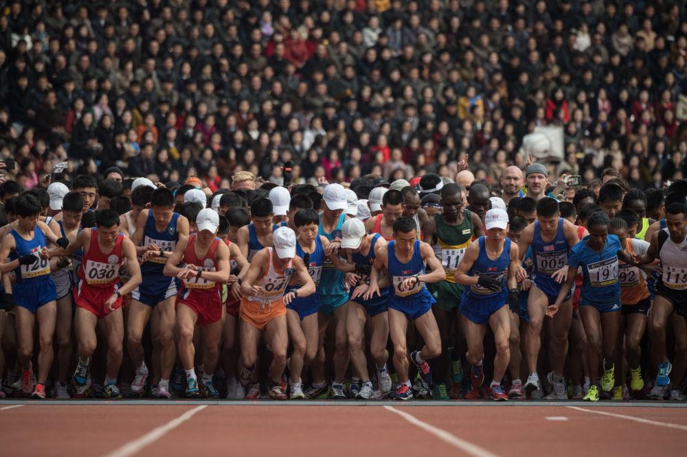 Maratona em Pyongyang, 8 de abril de 2018