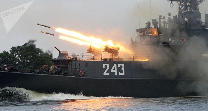 Navio militar da Frota do Báltico