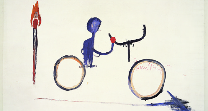 Untitled (Bicyclist), circa 1984/Jean-Michel Basquiat (1960-1988)