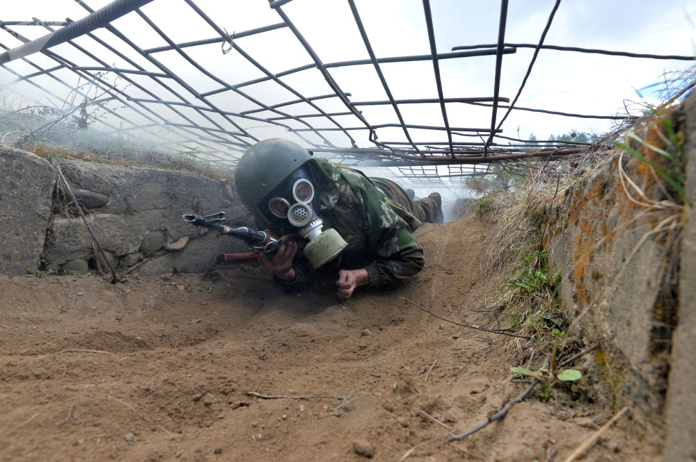"Obstáculo ""ratoeira"" durante provas para forças especiais bielorrussas"