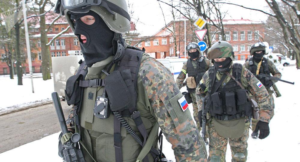 Agentes do Serviço Federal de Segurança (FSB) durante exercícios antiterroristas