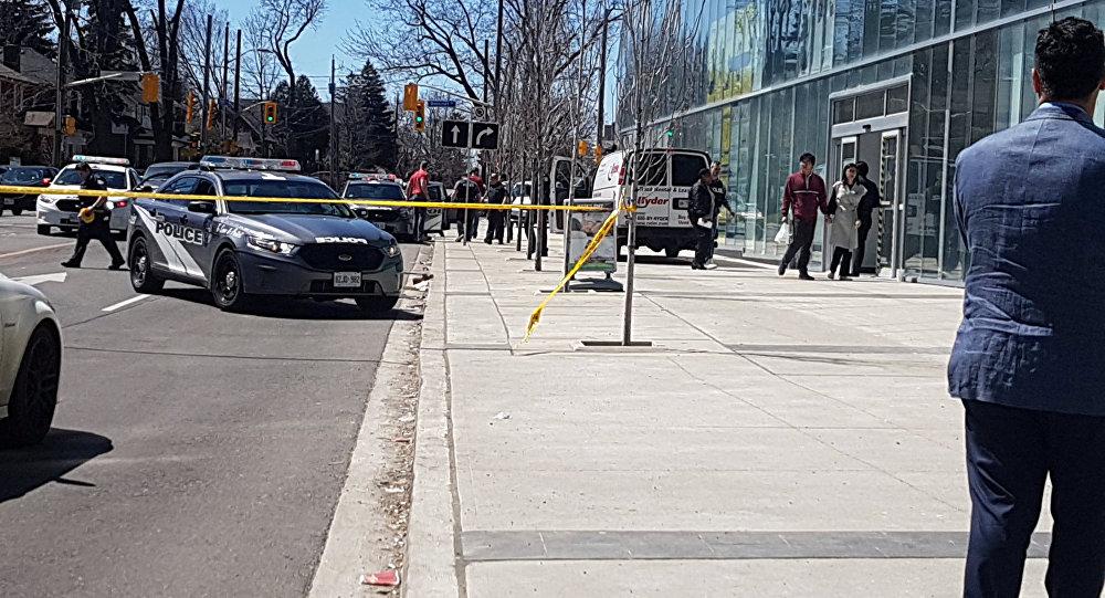 Local de atropelamento em Toronto.