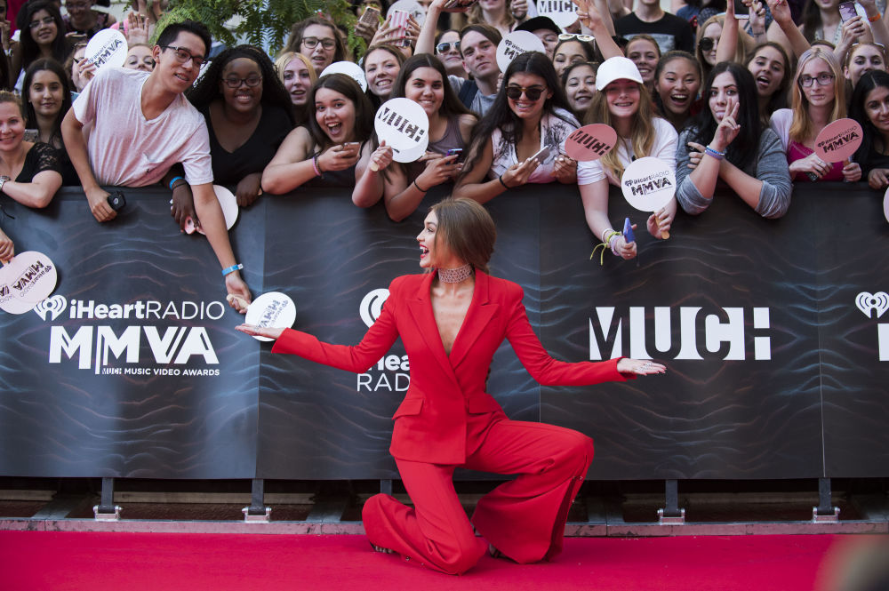Modelo norte-americana Gigi Hadid assista à cerimônia de premiação iHeartRADIO MuchMusic Video Award na cidade canadense de Toronto