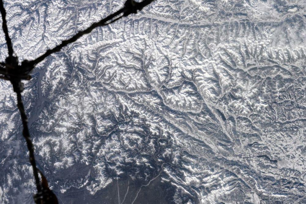 Foto dos Alpes tirada a partir do espaço pelo cosmonauta russo Anton Shkaplerov