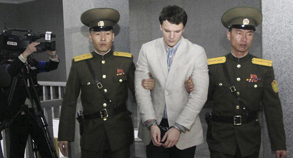 Estudante americano Otto Warmbier, morto nos EUA em junho de 2017 após passar 17 meses preso na Coreia do Norte