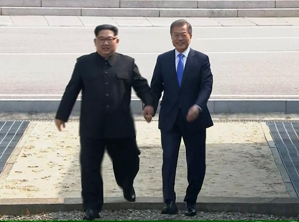 Kim Jong-un e Moon Jae-in.