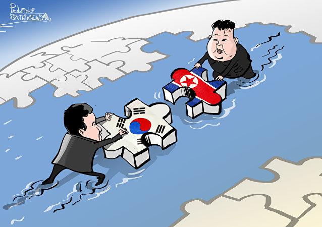 Até que enfim quebra-cabeça coreano se move para união