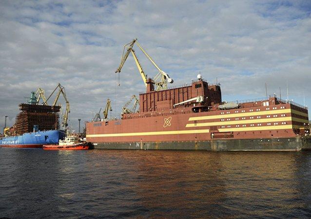 Usina nuclear flutuante russa Akademik Lomonosov
