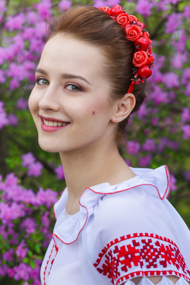 Ekaterina Debelaya, estudante do 1º ano da Universidade Estatal de Pedagogia de Maksim Tank
