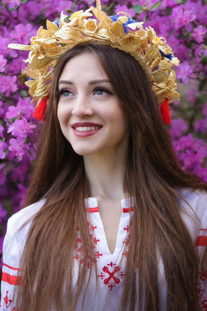 Anna Yankova, estudante do 3º ano da Universidade Estatal de Kuleshov, na cidade de Mogilev