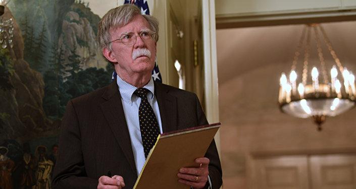 John Bolton na Casa Branca.