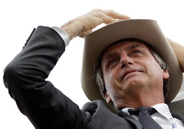 Jair Bolsonaro em protesto contra Lula em 4 de abril de 2018.