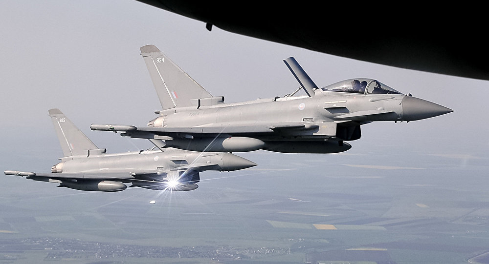 Caças Eurofighter Typhoon da Força Aérea Real