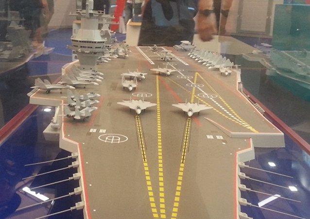 Modelo do porta-aviões do projeto 23000 (foto de arquivo)