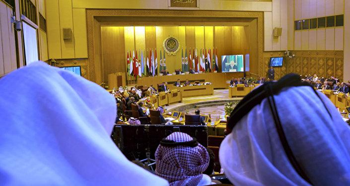 Reunião da Liga Árabe em Cairo, Egito.