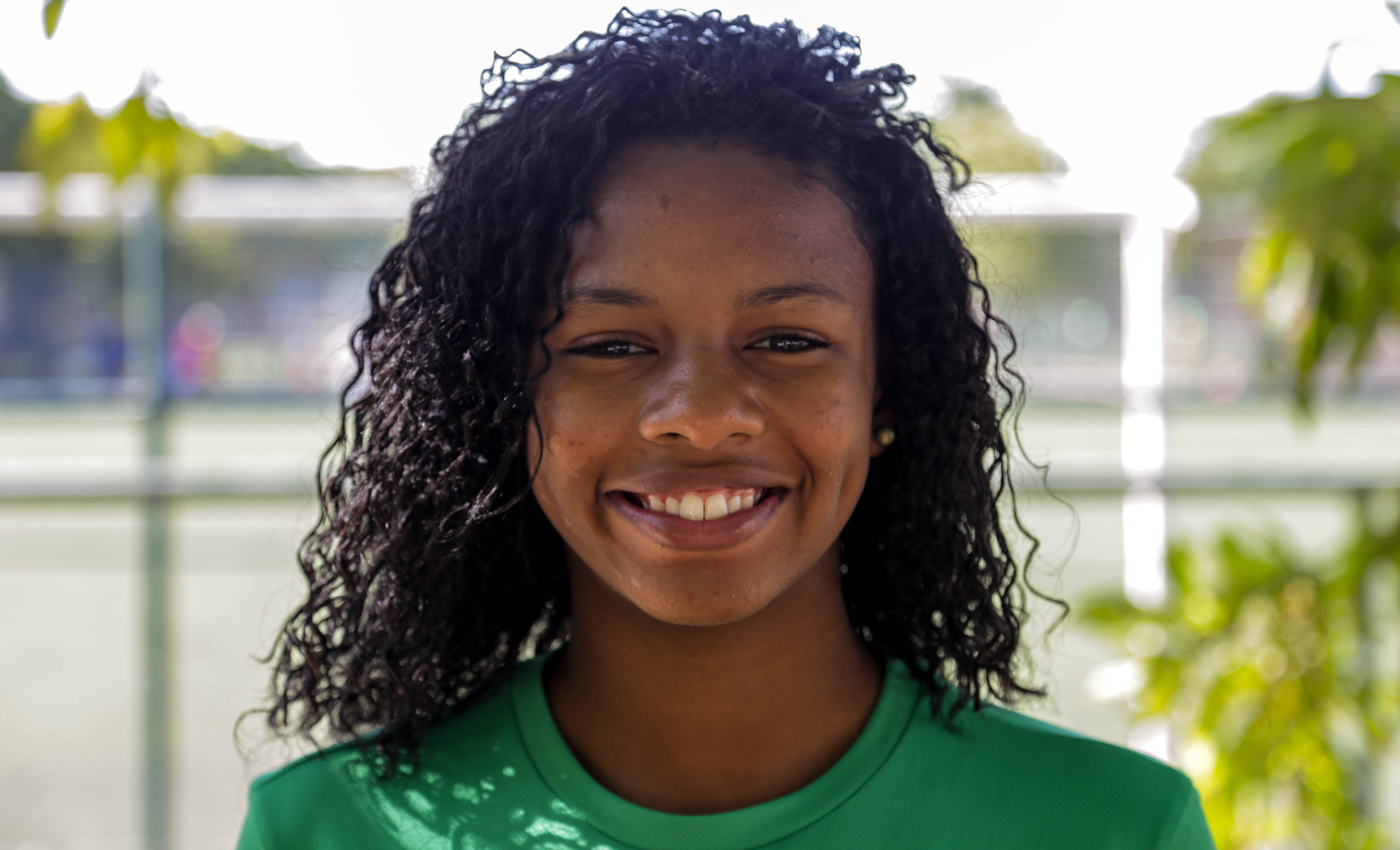 Jéssica Pinheiro do Vale, jogadora da seleção brasileira na Street Child World Cup 2018.