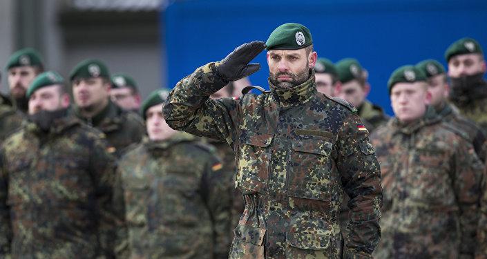 Soldados do Exército alemão na Lituânia (arquivo)