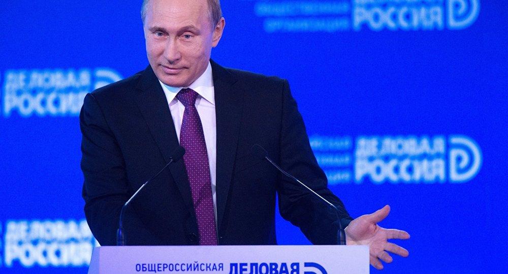 Putin no fórum Negócios da Rússia