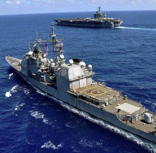 Navios de guerra dos EUA (foto de arquivo)