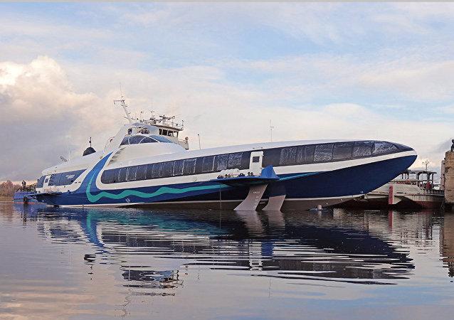 O navio de passageiros hidrofólio Kometa 120M passou os testes de navegação no mar Negro